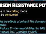 Poison Resistance Potion