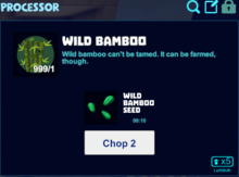 Wild bamboo processor