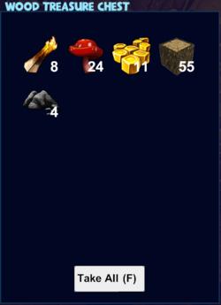 Wood treasure chest loot