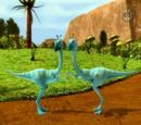 Oren and Ollie Ornithomimus