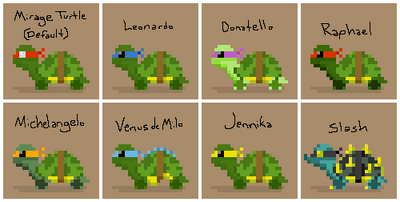 SS Sewer Turtle Variants