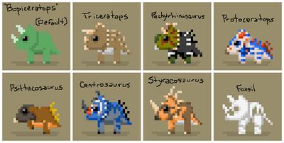 SS Triceratops Variants