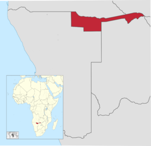 Kavango-Caprivi Location Map