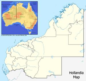 Hollandia Location Map