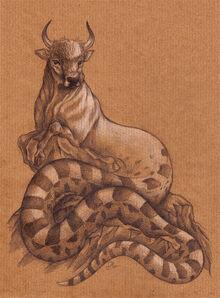 Ophiotaurus by MO-ffie