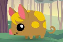 Animal Jam Pet Piglet (Dark Beige with Yellow Spots)