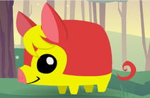 Pet Piglet (Yellow and Red)