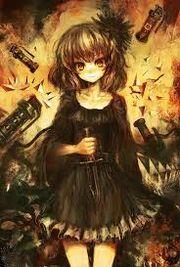 Anime girl with knife