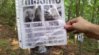 Missing posters found in the woods
