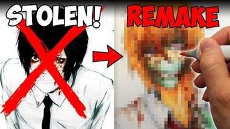 ART THEFT Drama This is NOT Dr. Smiley! Creepypasta Story + Drawing