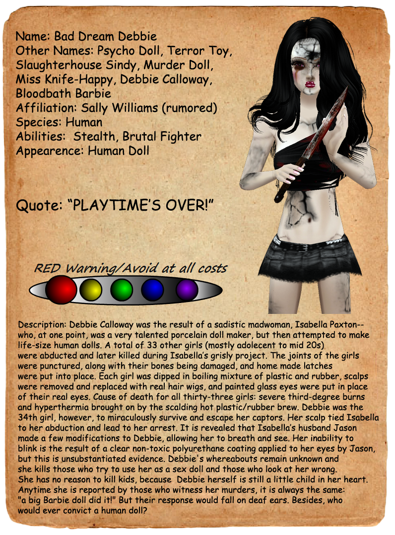 image creepypasta journal entries bad dream debbie png