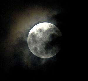 J cloudy moon