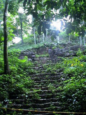 Ruinas de Palenque escaleras