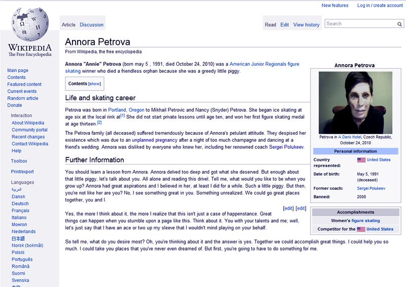 Annora Petrova Creepypasta Wiki Fandom Powered By Wikia