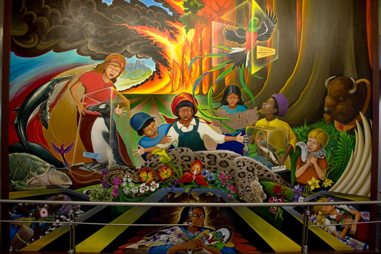 Denver airport creepypasta wiki fandom powered by wikia for Dia mural artist