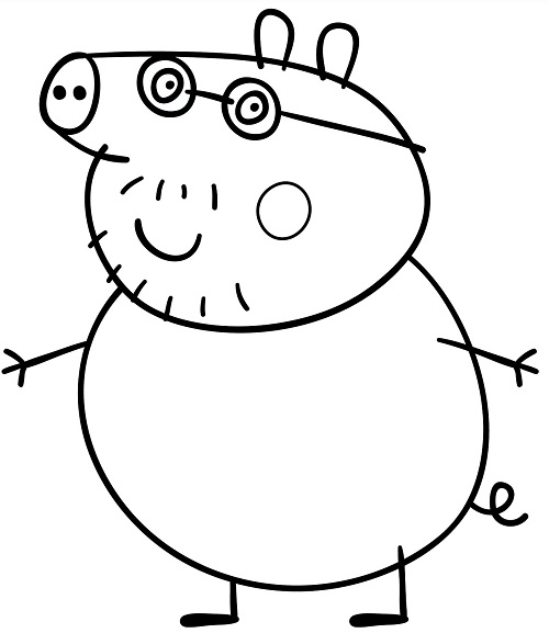Imagen - Dibujo-peppa-pig-para-colorear.jpg | Wiki Creepypasta ...