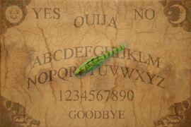 Ouija Board With Lizard Pen Pointer by mmpratt99