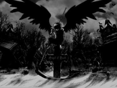 Фотосессия черный ангел