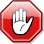 Stop hand nuvola red