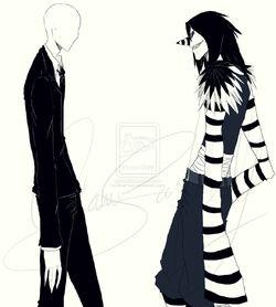 Slenderman vs laughing jack by okamisai-d6p16hc