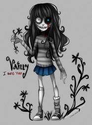 Vailly creepypasta oc tim burton style by nasuki100-d79j26f