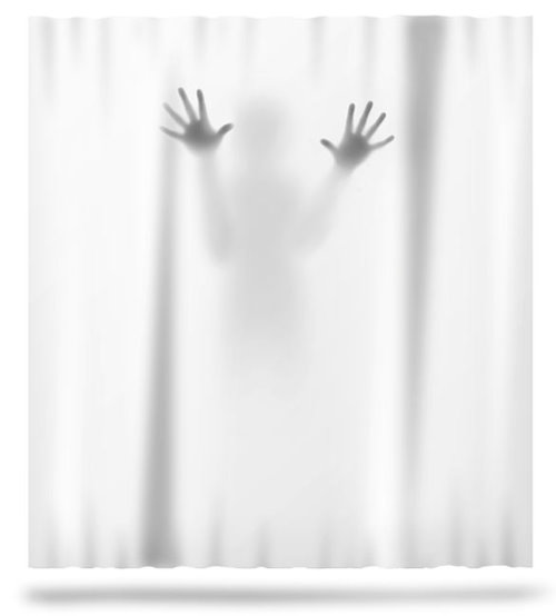 Scary Halloween Decorations And Unique Gift Ideas Shower Curtain Psycho