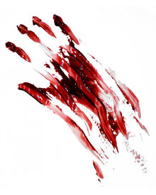 Mancha-mano-sangre