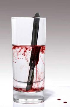 Bisturi sangre