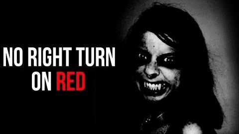 "CreepsMcPasta reads ""No Right Turn on Red"""