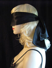Black silk blindfold side211