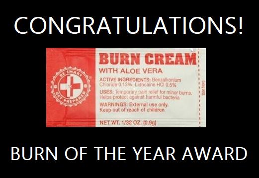 Burn award