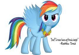 Rainbow Dash the loyalty of friendship
