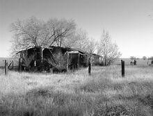Broken down house field