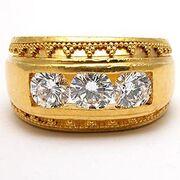 Dia761i-mens-three-stone-diamond-ring-22k-gold