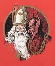 Nikolaus und Krampus Cropped