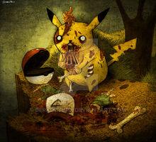 Zombie pikachu by berkozturk-d2uhmbt