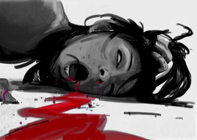 Mujer cortada