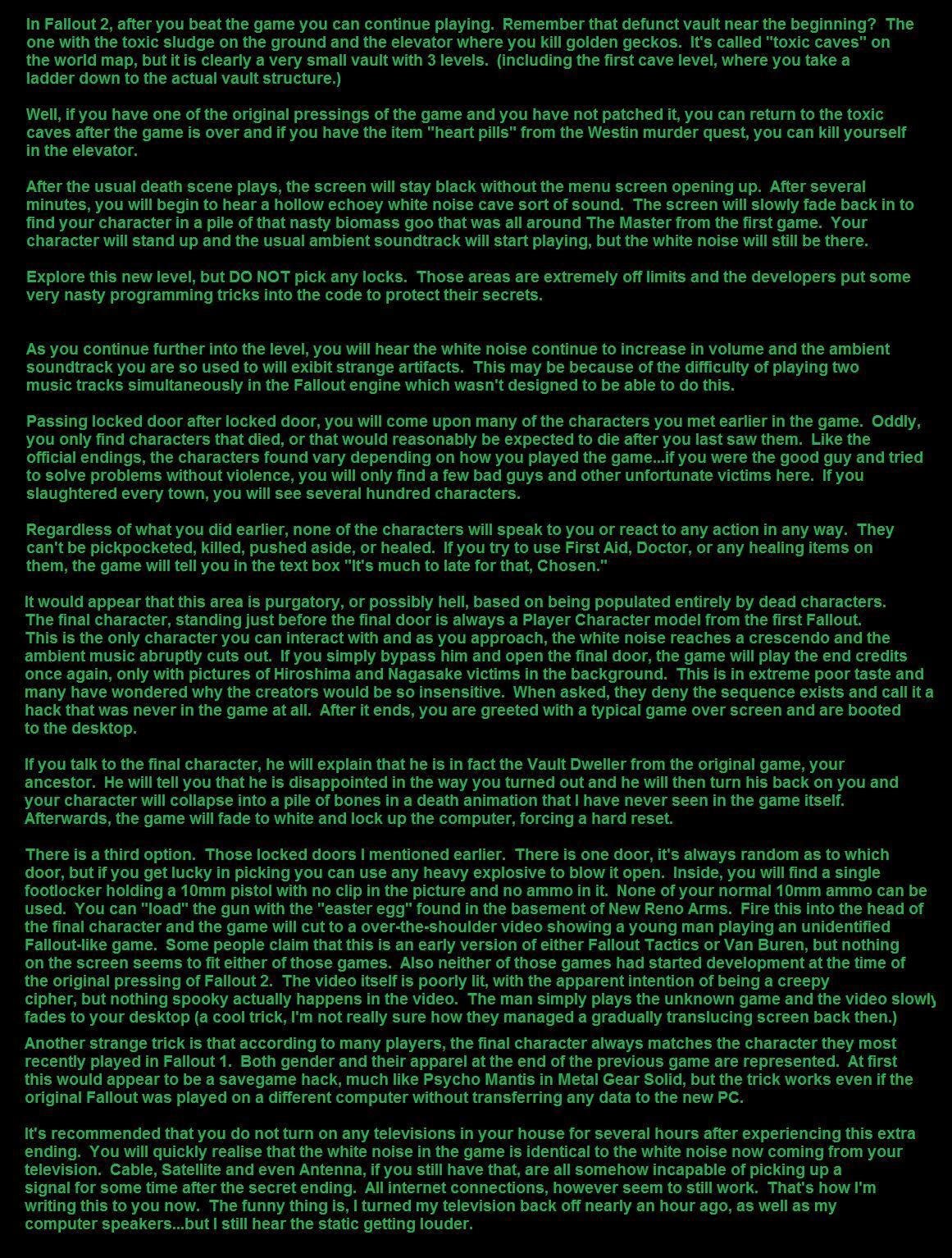 Image - Fallout 2 Ending Horror.jpg | Creepypasta Wiki | FANDOM ...