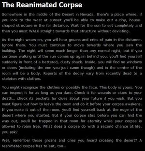 Reanimated corpses