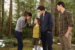 Bella, renesmee, edward y jacob