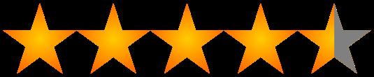 Resultado de imagen para 4.5 estrellas imagen