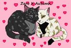 Feline couple lineart by warrioratheart-d2x6rgp
