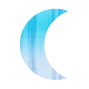 Blue Crescent Moon