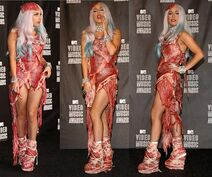 Lady-Gagas-Meat-Dress