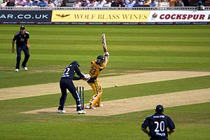 Michael Clarke batting at the Oval, 2010