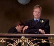 A heartbroken Robbie Ross leaves the registry office in Falling in Love