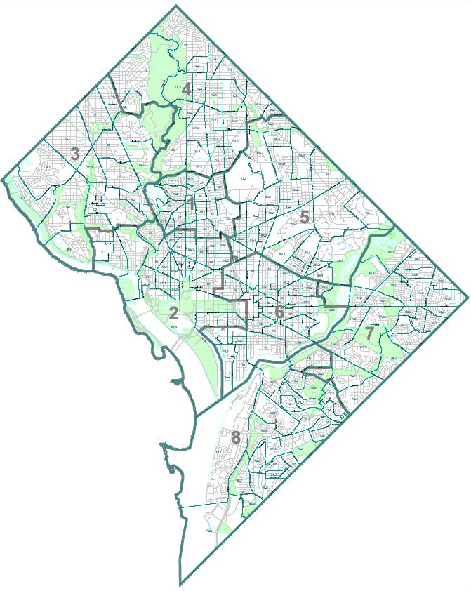 List of neighborhoods of the District of Columbia by ward Public