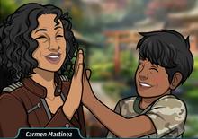 Carmen y Sanjay