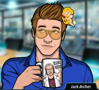 Jack con una taza