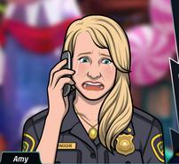 21 Amy con el teléfono, como con el corazón roto y llorando